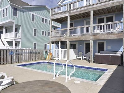 Photo for Carolinian: Less than 100 yards to the beach! Rec room with pool table, private pool and hot tub