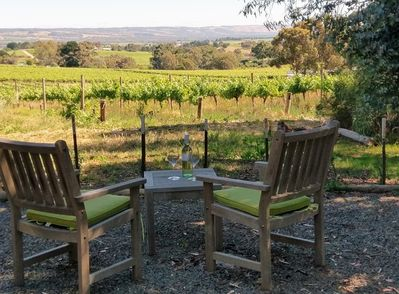 Relax in peace & privacy with a glass of wine.