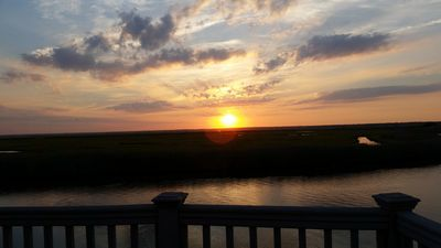 Photo for Waterfront House w/Dock & Sunsets - Facing LBI, Bay  and Wildlife/Bird Refuge
