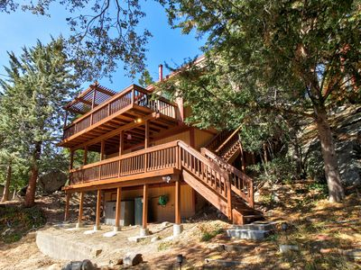 Photo for Dog-friendly home with game room plus furnished deck with mountain view