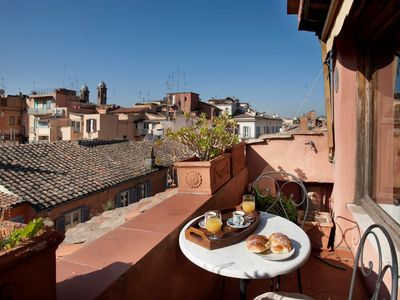 Photo for LAURINA F1, a large studio with panoramic terrace in the very heart of Rome.