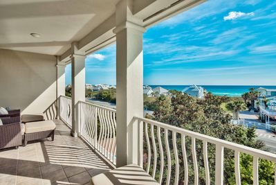 Located in Santa Rosa Beach, this home has awe-inspiring views of the Gulf.