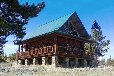 The cabin sits atop a nice meadow so you can view wildlife from the porch.