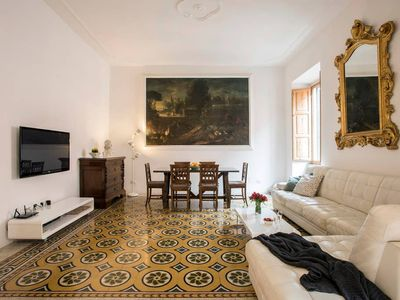 Photo for TreasureRome Boheme Family home 3 bedroom by Trevi Fountain