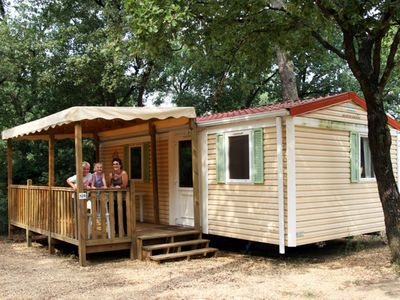 Photo for Mobilhome Serpolet - Camping La Pinéde in Provence