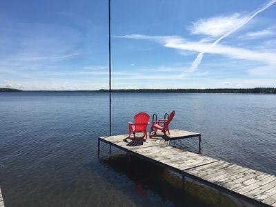 Photo for Stunning Lake Home on LCO, close to snowmobile trails, with/a sandy beach!