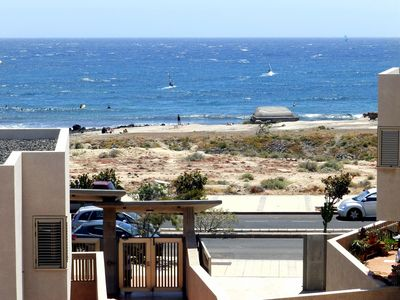 Photo for Seascape Duplex beachfront in El Medano Cabezo (wifi)