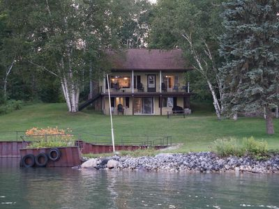 Photo for Waterfront Home With Freighter Views *fire pit*fishing pier/dock* pontoon rental