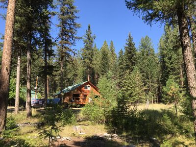 Photo for Missoula Montana Cozy Conifer Log Cabin Borders State Forest 10 Acres & 5 Creeks