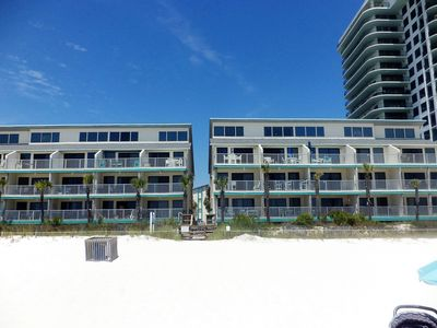 Photo for Best priced 2BR on the beach & pool-front in PCB!