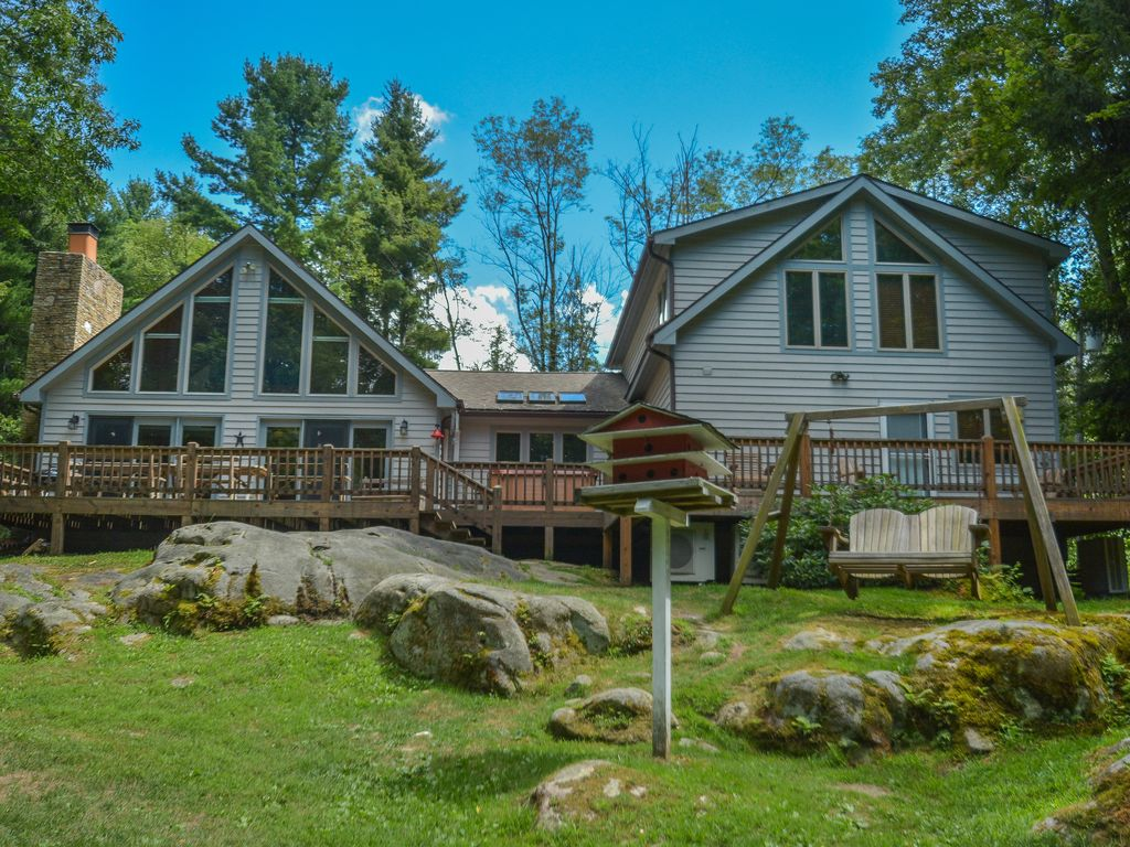 Spacious Chalet With Sunset Lake Views Vrbo