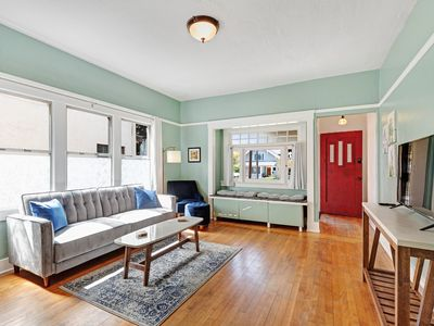 Photo for NEW LISTING! -Charming, dog-friendly bungalow steps to Beech Street District