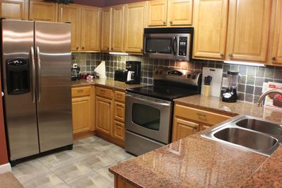 Great kitchen. Large and equipped with everything you need to cook a meal