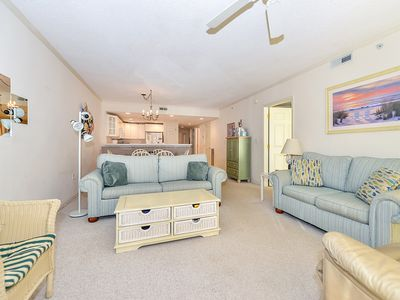 Photo for Bright, cozy luxury 3 bedroom ocean block condo with WiFi and an outdoor pool located near downtown and less than a block from the beach! Linens included and beds maid, hotel service in the condo.