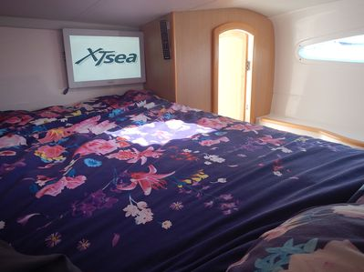 Main guest cabin. Queen bed with ensuite