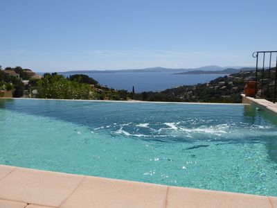 Photo for NEW: Comfortable villa: JetStream pool, AC, wifi, wonderful view, for 10 people