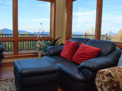 Photo for House with amazing all season mountain view. Hot Tub, Fire Pit,  6 min to slope.
