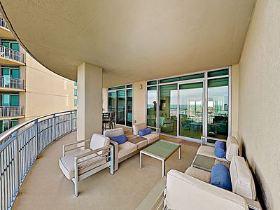 Balcony - Welcome to Galveston! This condo is professionally managed by TurnKey Vacation Rentals.