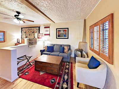 Living Area - Welcome to Santa Fe! This adobe studio is professionally managed by TurnKey Vacation Rentals.