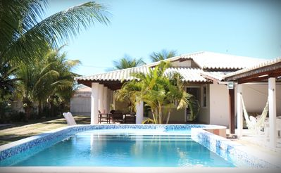 Photo for Great beach house with 5 bedrooms, swimming pool and barbecue