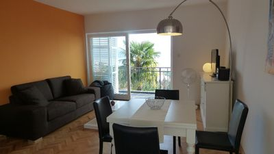 Photo for Luxurious apartment with stunning sea views, islands, palm trees and Rijeka-