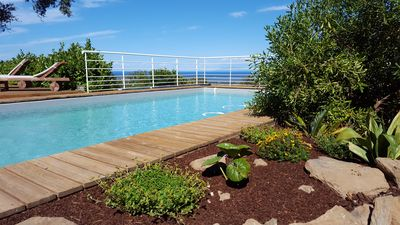 Photo for Villa T5 146 m², swimming pool salt, petanque, sea view, sleeps 9/10