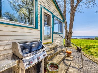 Photo for Two beautiful waterfront cottages w/ a firepit - walk to the beaches & town!