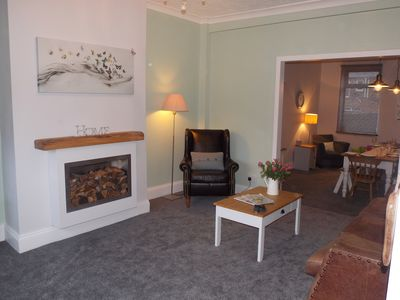 Lounge with Freeview Tv ,Surround sound ,DVD player and a selection of DVD's