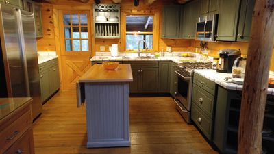 kitchen with SS appliances