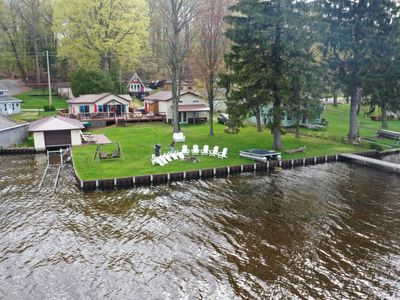 The Bunkalow: A Lakefront Compound with Lifts for your Speed Boat & Pontoon Boat