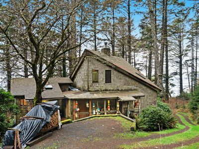 Photo for Dog-friendly, rustic & beachy cabin in the woods w/ deck - walk to the beach!