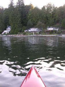 Take one of the kayaks or canoe out for a spin on Puget Sound or Miller Bay