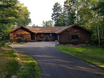 Photo for Lakefront Log Cabin on Clear Lake (Private)--Fishing, Boating, ATV, Snowmobilng