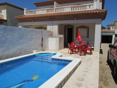 Photo for Homerez last minute deal - Amazing chalet with swimming-pool
