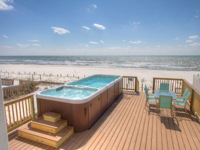 Photo for Surf Song - Beachfront Home with SwimSpa - On the Beach! Sleeps 20!