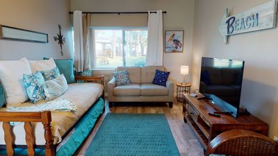 Photo for SIV13: Condo in Town with Farmhouse Decor, Shared Pool,Walk Path to Beach