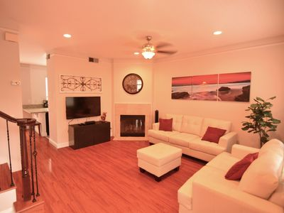 Photo for Luxury Family Townhouse3, 2 Blocks to Beach/Bay! A/C BBQ Garage Crib Baby Gear