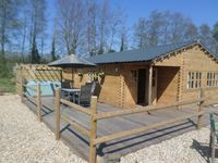 The log cabin was presented in a lovely eco friendly fashion. Beautifully designed