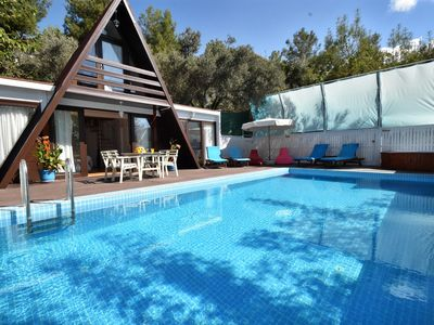 Photo for Charming 2 Bedroom Timber Villa with Totally Private Pool, near village centre