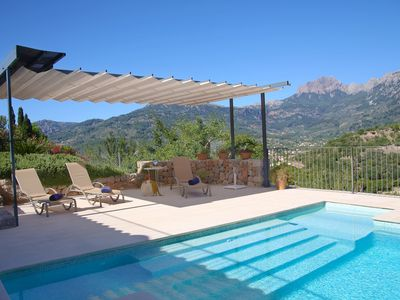Photo for Amazing house with stunning views, pool, WIFI, next to the centre of Sóller