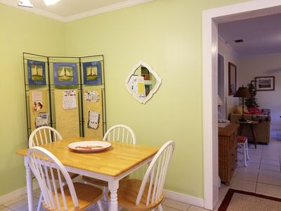 Step into a sunny kitchen with table for 4