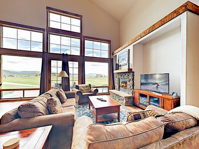 Photo for New Listing! 7th Heaven: Upscale Grand Elk Home on Golf Course w/ Hot Tub
