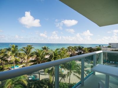 Photo for Direct Oceanfront Views -Fully Decorated Resort Style Beachfront Condo