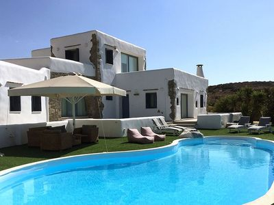 Photo for Private villa, private pool, tennis court, gym, BBQ, wonderful sea view, sunset