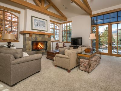 Photo for Sun-filled 3-bedroom townhome with floor-to-ceiling windows, mountain views and Elkhorn amenities