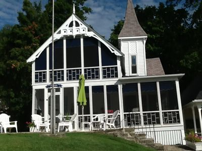 Photo for Beautiful Victorian Cottage with Fabulous view of St. Lawrence River