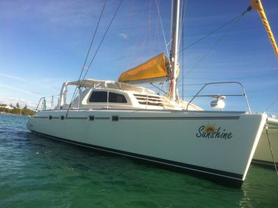 Sunshine is a 47 ft Catamaran with 4 private staterooms with private bathrooms