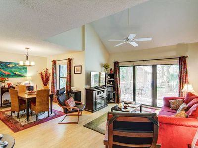 Photo for Wooded View | Furnished Porch | Wifi | 2 BR Seabrook Island Villa