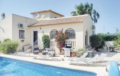 Photo for Comfortable family villa with private heated pool for 8 people