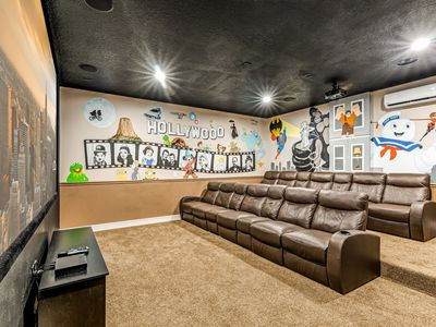 Photo for Ultimate getaway! Amenities galore! 2 Theaters! Game room! Private pool/spa!